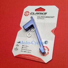 Clarks Scheibenbremse Adapter für Vorne Post Halterung blau eloxiert 160mm/180mm