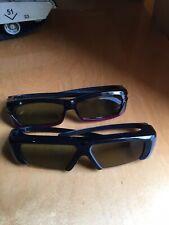 Samsung SSG-3100GB Active 3D Glasses For Smart TV Lot Of 2