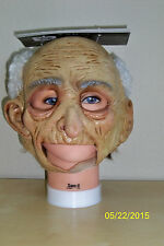 ADULT OLD MAN GRANDPA CHINLESS FULL LATEX MASK WITH HAIR COSTUME TB27529