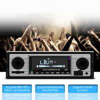 1DIN 4-Channel Wireless Bluetooth In-Dash Car FM Radio Stereo Player USB Charger
