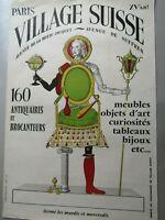 Affiche d'exposition Village Suisse Paris XVe / Emer Publicité