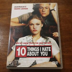 10 Things I hate about You Heath Ledger Julia Stiles DVD R4 Like New! FREE POST