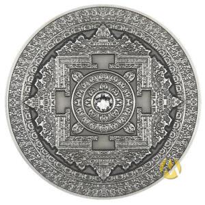 RARE: FIJI 10$ 2015 Silver 999. 3oz Antique Finish MANDALA ART First in series!