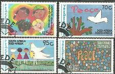 Südafrika - Kinderzeichnungen 1994 gestempelt  Mi. 922-925