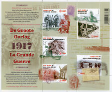 Belgium 2017 MNH WWI WW1 Great War Pt 4 Communication 5v M/S Military Stamps