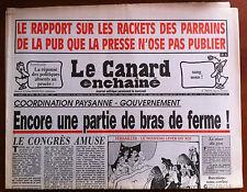 Le Canard Enchaîné 24/6/1992; Rapport sur les rackets des parrains de la Pub