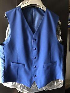"Royal Blue Waistcoat 40"" Chest NEW"