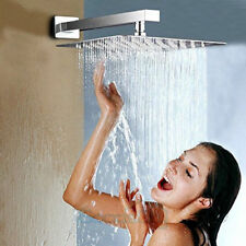Rainfall Shower Head 12 inch, Solid Stainless Steel Square Rain Showerhead Ultra