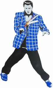 Elvis Presley Pendulum BLUE and White Suit Wall Clock Swinging Legs and Hips