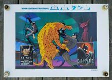 """Orig 1992 Batman """"The Animated Series"""" Book Cover Warner Bros Dc Comics No Cuts"""