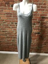 Donna Karan Collection Beaded Evening Dress Tank Style 20's Look Gray S 4