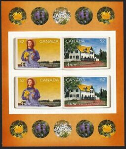 ANNE OF GREEN GABLES = BK PAGE OF 4 with STICKERS = Canada 2008 #2277-2278 MNH