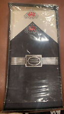 Set Of 2 Vintage Hand Loom Embroidered Men's Hankerchiefs New Black White Crown