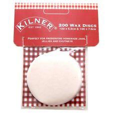 Kilner Set of 200 Preserving Wax  Discs for Storage Preserve Jam Jar 9711