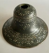 Ancient Mughal Silver Inlaid Floral Bidri Hookah Base 19th C India Islamic