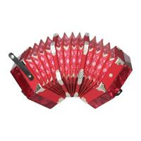 Red Concertina Accordion 40-Reed Anglo Style 20-Button+Bag+Free Fast Ship Y3H7
