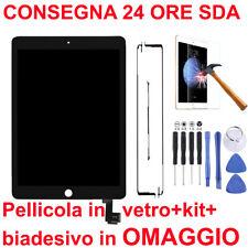 TOUCH SCREEN VETRO LCD DISPLAY APPLE IPAD AIR 2 IPAD 6 A1566 A1567 NERO O BIANCO