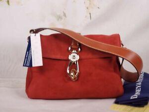 Dooney & Bourke - Suede Leather Hobo Handbag - Libby - Red