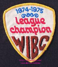 LMH PATCH Badge  1974 1975 WIBC LEAGUE CHAMPION Women's Bowling Award  USBC Bowl
