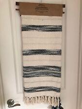 "Afghan Throw Blanket Aman  Chanskika 50X60"" Cotton/Acrylic  NEW NWT"