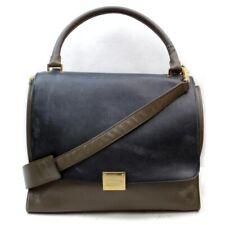 Celine Shoulder Bag Trapeze Medium Brown Leather 1130035
