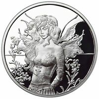 Amy Brown Collection 1oz Wall Flower Fairy .999 Fine Silver Proof Round COA