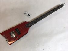 80's Hondo Alien Headless Electric Bass Guitar Metallic Red