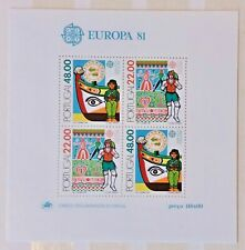 Timbre Stamp Portugal 1981 YT  bloc BF 33 EUROPA CEPT Neufs