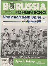 Orig.PRG   UEFA Cup  1986/87  B.MÖNCHENGLADBACH - PARTIZAN BELGRAD  !!  RARE