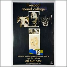 Paul McCartney 2000 Liverpool Sound Collage Double-Sided Promotional Poster (UK)
