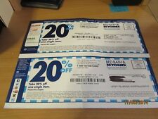 Ten (10) Bed Bath & Beyond 20% off one single item coupons