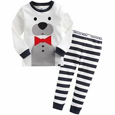 "Vaenait Baby Toddler Kids Boys Clothes Sleepwear Pajama ""Tie Bear"" M(3T)"