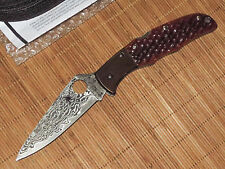 Spyderco C10JBOP Damascus Jigged Orange Bone Endura Knife - Sprint Run - NEW