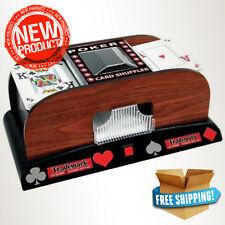 Texas Holdem Wooden Card Shuffler Automatic Cards Shuffle Poker Casino Playing