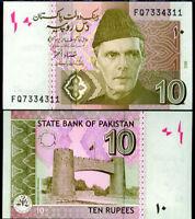 "Pakistan 10 rupees 2008 km#69 /""Benazir Bhutto/"" UNC"