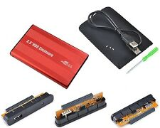 "Housing for hard drive IDE 2.5"" DD USB USB2 Plug&Play Alu Lightweight Mobile RED"