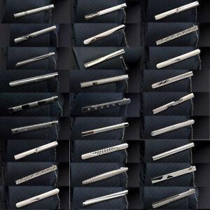 3 Packs Men 6CM Solid Tie Clip Stainless Steel Chain Wedding Necktie Clasp
