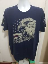 Grunt Style We The People Eagle Graphic T Shirt Blue 100% Cotton Mens Large USA