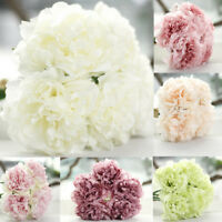 Artificial Silk Fake Flowers Peony Wedding Bridal Bouquet Hydrangea Home Decor