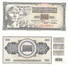 Yugoslavia 1000 Dinara 1978 P-92c NEUF UNC Uncirculated Banknote