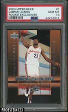 2003-04 Upper Deck Star Rookie Exclusives #1 LeBron James Cavaliers RC PSA 10