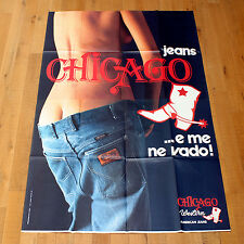 CHICAGO JEANS poster manifesto Advertising Fashion Woman Western American Boot