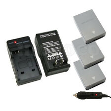 3 x BLN-1 BLN1 Battery + Charger for Olympus OM-D E-M5 EM5, E-M1 EM1, PEN E-P5