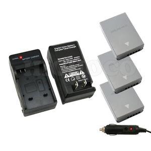 3 x BLN-1 BLN1 Battery + Charger for Olympus OM-D E-M5 EM5, E-M1 EM1, PEN E-P5