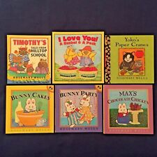 Lot of 6 Children's Picture Books Rosemary Wells: Bunny Cakes Bunny Party & More