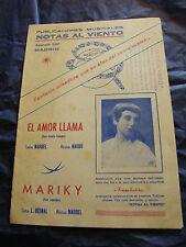 Partitura El Llama de amor Narbo Mariky Marbel Music Sheet