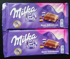 MILKA - 2 x Milka Colourful cocoa dragees - like Smarties Bar - 100 g each - New