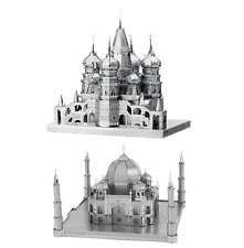 Fascinations ICONX ST BASIL CATHEDRAL & TAJ MAHAL Metal Earth 3D Steel Model Kit