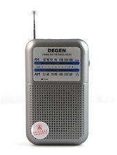 DE333 FM AM Radio Receiver DEGEN Portable 2 Bands Radio +track HoT US