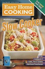 SLOW COOKER EASY HOME COOKING COOKBOOK FEBRUARY/MARCH 2007 VOL. 1, #56 PIE, STEW